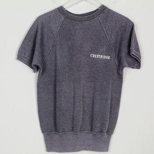 Champion Sweatshirt Dolman Top Crestridge S/S Gray